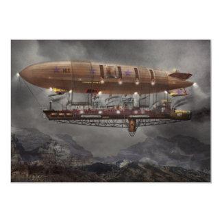 """Steampunk - dirigible no rígido - dirigible invitación 5"""" x 7"""""""