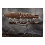 Steampunk - dirigible no rígido - dirigible Maximu Felicitacion