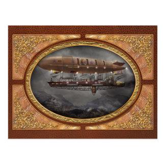 Steampunk - dirigible no rígido - dirigible postales