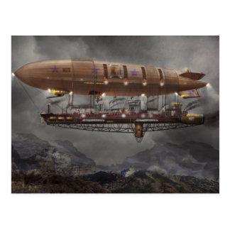 Steampunk - dirigible no rígido - dirigible tarjeta postal
