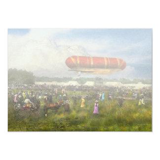 """Steampunk - dirigible no rígido - Nulli de Invitación 5"""" X 7"""""""