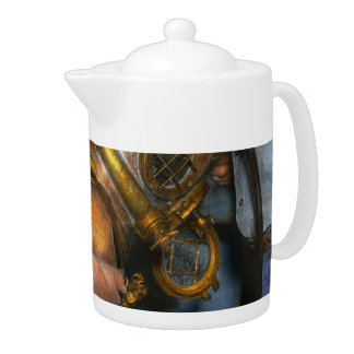 Steampunk - Diver - A load off my shoulders 1936 Teapot