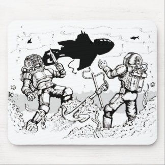 Steampunk Divers Mouse Pad