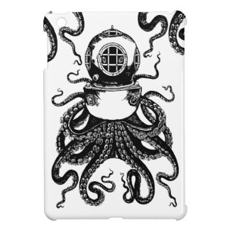 Steampunk Diving Kraken Octopus ipad mini case