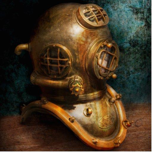 Steampunk - Diving - The diving helmet Photo Cutout