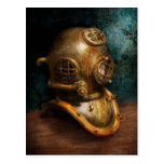 Steampunk - Diving - The diving helmet Post Card