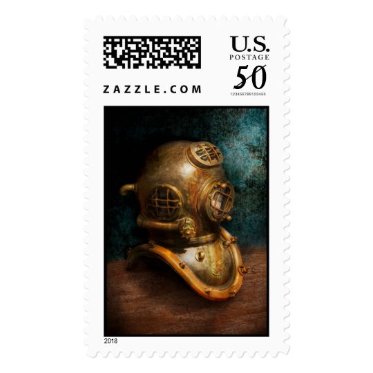 Steampunk - Diving - The diving helmet Postage