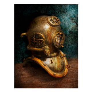 Steampunk - Diving - The diving helmet Postcard