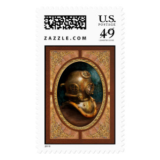 Steampunk - Diving - The diving helmet Stamp