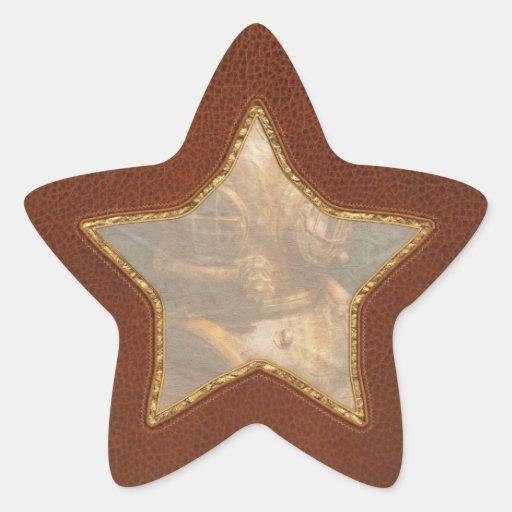 Steampunk - Diving - The diving helmet Star Sticker