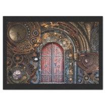 steampunk door tissue paper