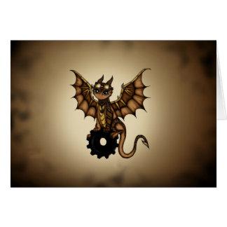 Steampunk Dragon Card