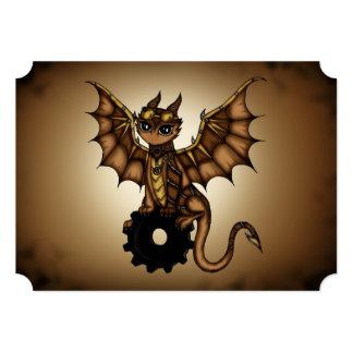 Steampunk Dragon invitation