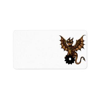 Steampunk Dragon Label