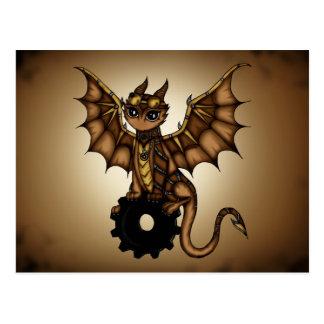 Steampunk Dragon Postcard