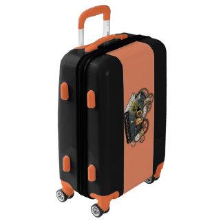 Steampunk dragon story book luggage