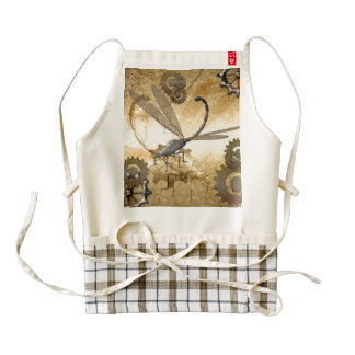 Steampunk, dragonflies zazzle HEART apron