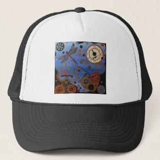 steampunk dragonfly trucker hat