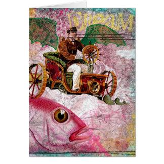 Steampunk Dream Birthday Card