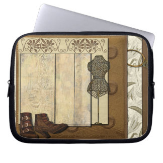 Steampunk Dressmaker Room Laptop Sleeve