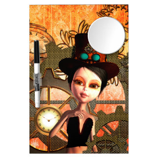 Steampunk Dry Erase Board With Mirror