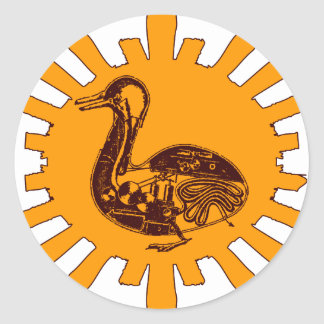 Steampunk Duck Classic Round Sticker
