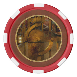 Steampunk - Dystopia - la cámara acorazada Juego De Fichas De Póquer