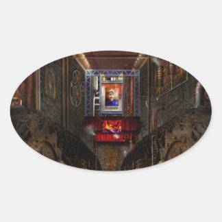 Steampunk - Dystopian society Oval Sticker