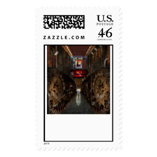 Steampunk - Dystopian society Postage Stamp