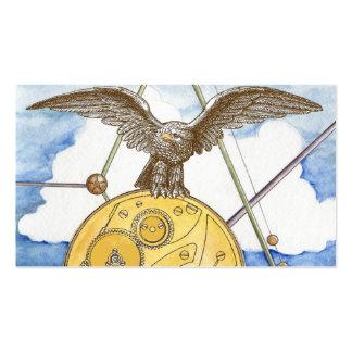 Steampunk Eagle y tarjeta de visita del engranaje