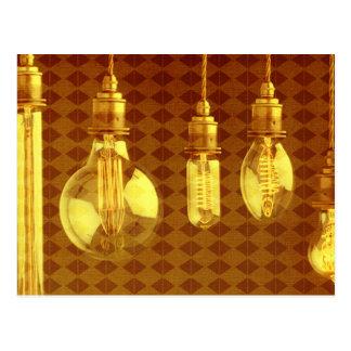 Steampunk Edison Bulbs Postcard