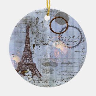 Steampunk Eiffel Tower Christmas Ornament