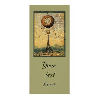 Steampunk Eiffel Tower Rack Card Flyer