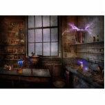 Steampunk - el científico enojado escultura fotográfica