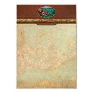 """Steampunk - el cuento del Kraken Invitación 5"""" X 7"""""""