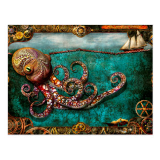 Steampunk - el cuento del Kraken Postales