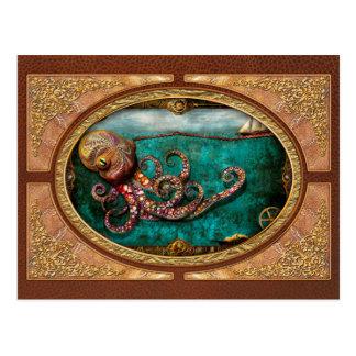 Steampunk - el cuento del Kraken Tarjeta Postal