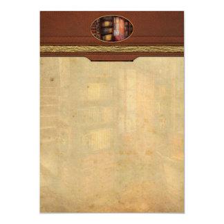 Steampunk - el estudio semiprivado invitación 12,7 x 17,8 cm