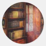 Steampunk - el estudio semiprivado pegatina redonda