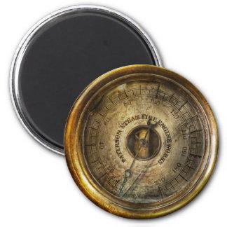 Steampunk - el indicador de presión imán redondo 5 cm