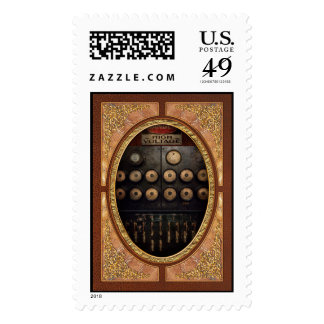 Steampunk - Electrical - Center of power Stamp