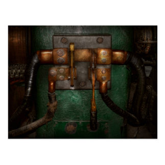 Steampunk - Electrical - Pull the switch Postcard