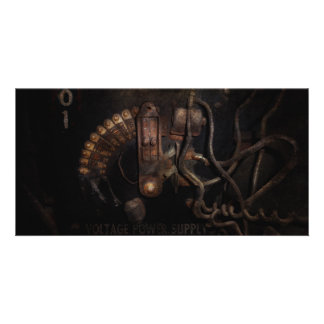 Steampunk - Electrical - Rotary Switch Photo Cards