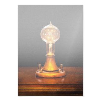 """Steampunk - electricidad - ideas brillantes invitación 5"""" x 7"""""""