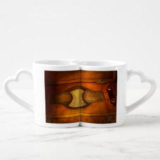 Steampunk - electricista - el metro portátil de set de tazas de café