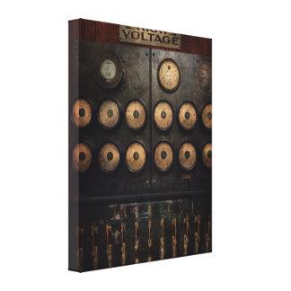 Steampunk - eléctrico - centro del poder impresión en lona