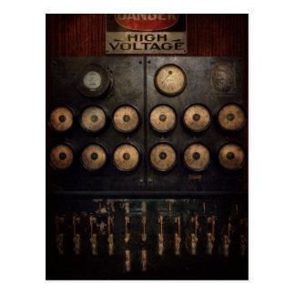Steampunk - eléctrico - centro del poder tarjetas postales