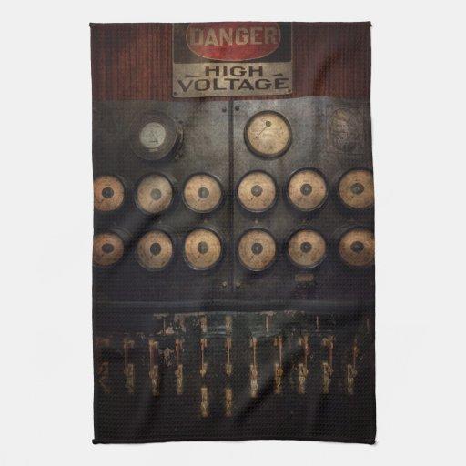 Steampunk - eléctrico - centro del poder toallas
