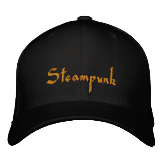 Steampunk  Embroidered Cap