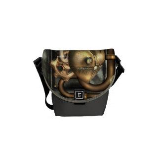 Steampunk en el corazón bolsas de mensajería
